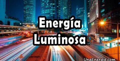 energia luminosa definicion